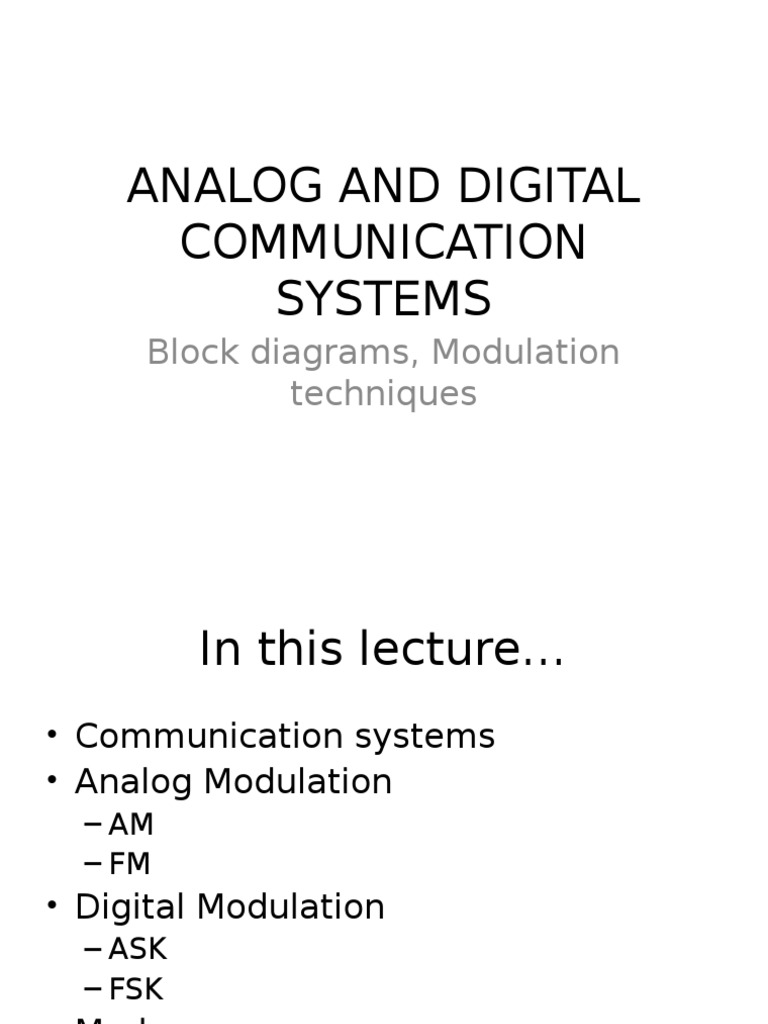 Analog and Digital Communication Systems | Modulation | Frequency Modulation
