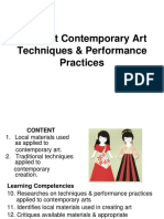 3Different Contemporary Art Techniques _ Performance Practices