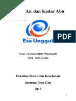 Kadar Air Dan Kadar Abu PDF