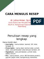 Cara Menulis Resep