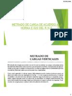 02 - METRADOS de CARGA E.020 - Contenido Completo