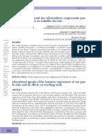 Agenda Educacional Dos Reformadores Empresariais Paulistas e Seus Efeitoa No Trabalho Docente