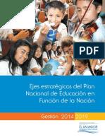 Ejes Estratgicos Del Plan Nacional de Educacin en Funcin de La Nacin