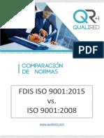 201508 - Comparación Iso 9001 2008 vs. 2015 - Qualired