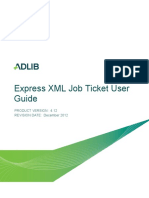 Express XML Job Ticket