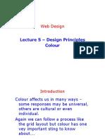 Lecture 5 - Design Principles Colour