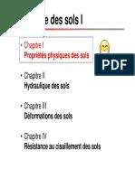 Chapitre 1-Proprietes Physiques Des Sols