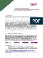 Using qualitative methods to assess impact (Ellis 2015)
