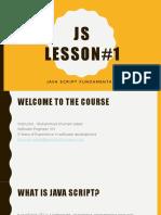 Java Script Lectrue 01