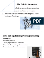 Chapter 8 - The Role of Accounting