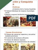 Exploración y Conquista Del Perú
