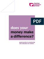 Does your money make a difference? Good practice in monitoring and evaluation for funders (Ellis 2010)