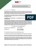 Nr21 - Rapport Special Sur Le Gouvernement d Entreprise Et Les Procedures de Controle Interne - Fy 2013-2014