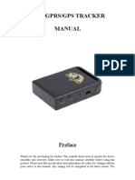 TK102B GPS Tracker User Manual
