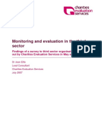 Monitoring and evaluation in the third sector