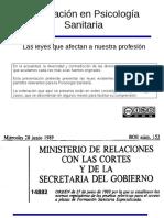 Legislacion en PS