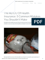 The AEIOU of Health Insurance_ 5 Common Mistakes You Shouldn't Make