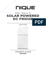Solar Powered DC Fridge Owners Manual