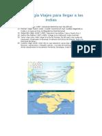 Cronología Viajes Para Llegar a Las Indias