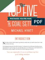 Michael Hyatt Top Five Mistakes in Goal Setting