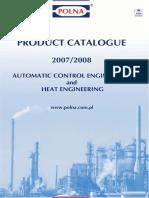 Control Valves Regulators Actuators Product Catalogue Polna