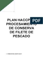 Elaboracion Conservas de Pescado- Haccp, Poes y Bpm