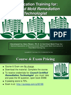 Certified Remediation Technologist Training Revised 4-14-15