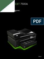 panduan penggunaan dan set printer hp 7500A.pdf