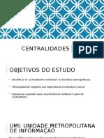 Centralidades da Região Metropolitana do Rio de Janeiro