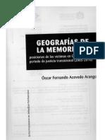 Acevedo. Geografia de Las Memorias