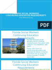 Florida Social Workers Continuing Education Requirements