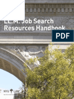 LL.M. Job Search Resources Handbook. NYU Law