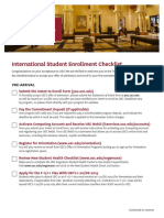 International Student Enroll Checklist