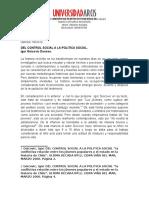 Historia Reciente- Del Control Social a La Politica Social- Daniela Torres