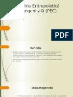 Porfiria Eritropoietică Congenitală (PEC)