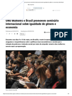 ONU Mulheres e Brasil