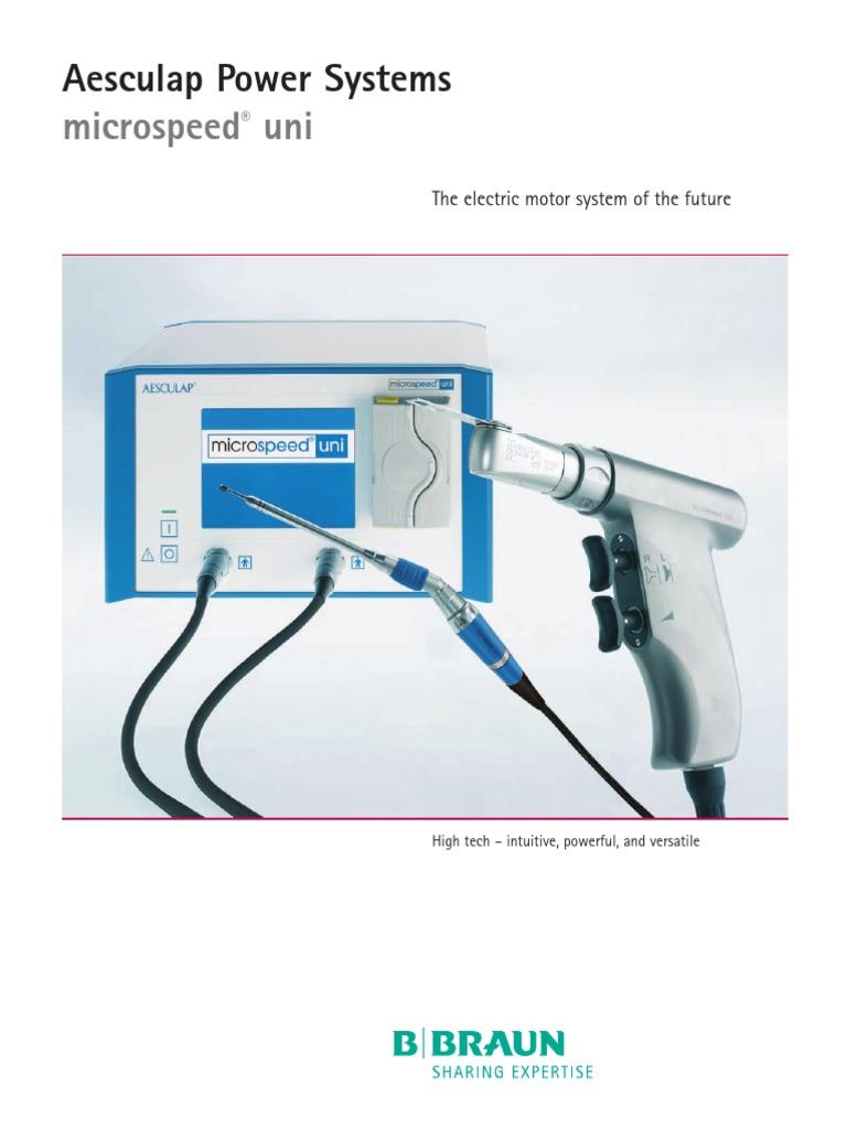 refacciones para CRANEOTOMO AESCULAP pdf   Manufactured