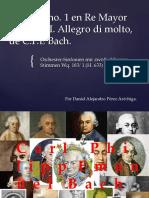 Sinfonía 1 en Re Mayor Wq. 183/ H.663 de C. Ph. Emanuel Bach. Pequeño análisis.