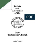 Booklet Beliefs Nt Church