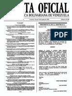 Sumario Gaceta Oficial 39.449