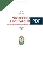 Migración de Hidrocarburos