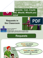 Unit 13 - Requests Can, Could, Will, Would, Would You Mind