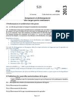 Centrale PSI 2013 (Corrigé)