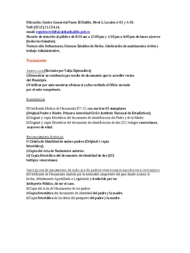 Registro Civil El Hatillo