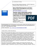 Teacher-child Relationship Quality in Early Childhood Education-libre