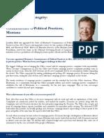 Profile in Public Integrity - Jonathan Motl