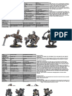 Iron Kingdoms Merc Warjacks
