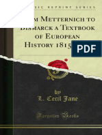 From Metternich to Bismarck a Textbook of European History 1815-1878 1000179077