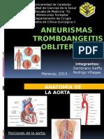 Aneurismas,  tromboangeitis obliterante