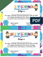 Escuela Dominical 2016